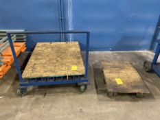Lot of 2 Rolling Shop Dollies
