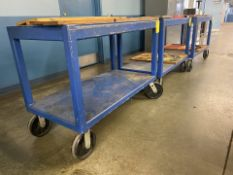 Lot of 3 Rolling Shop Carts