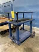 Adjustable Height Shop Cart on Wheels