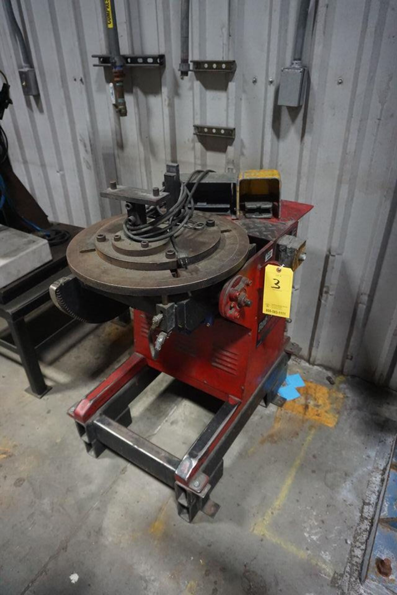 """RED-D-ARC WELDING POSITIONER, MDL: WP-500, 20"""" TABLE"""