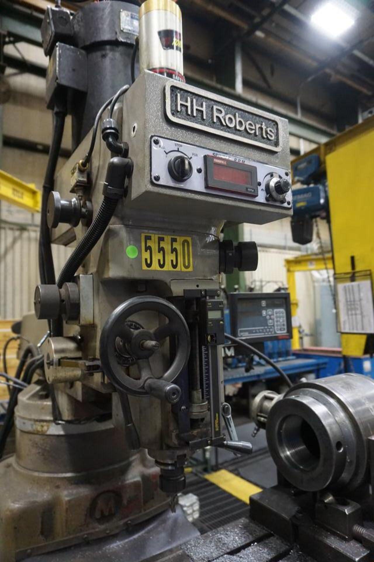 HH ROBERTS VERTICAL MANUAL MILLING MACHINE (ASST#: p849203) - Image 3 of 3