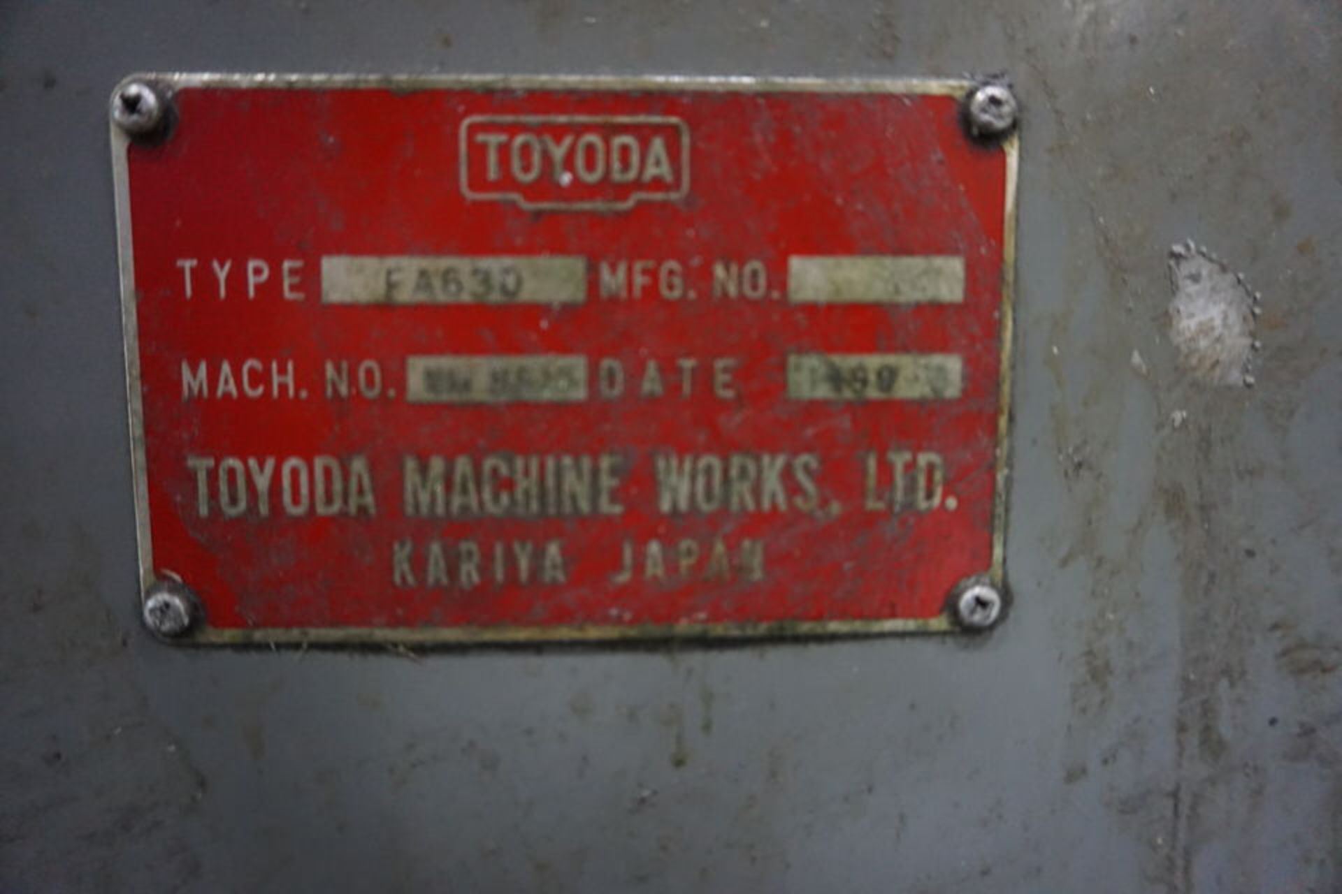 TOYODA HORIZONTAL MILLING MACHINE, DOM:1998 (ASST#: P772100) - Image 2 of 9