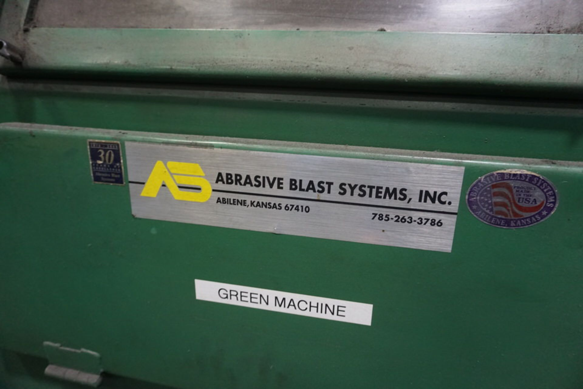 ABRASIVE SHOT PEEN BLAST SYSTEM, MDL: 3N1201 (ASST#:P863109) - Image 8 of 11