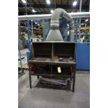 DOWNDRAFT DEBRAZE TABLE W/ ARREST ALL SUCTION UNIT