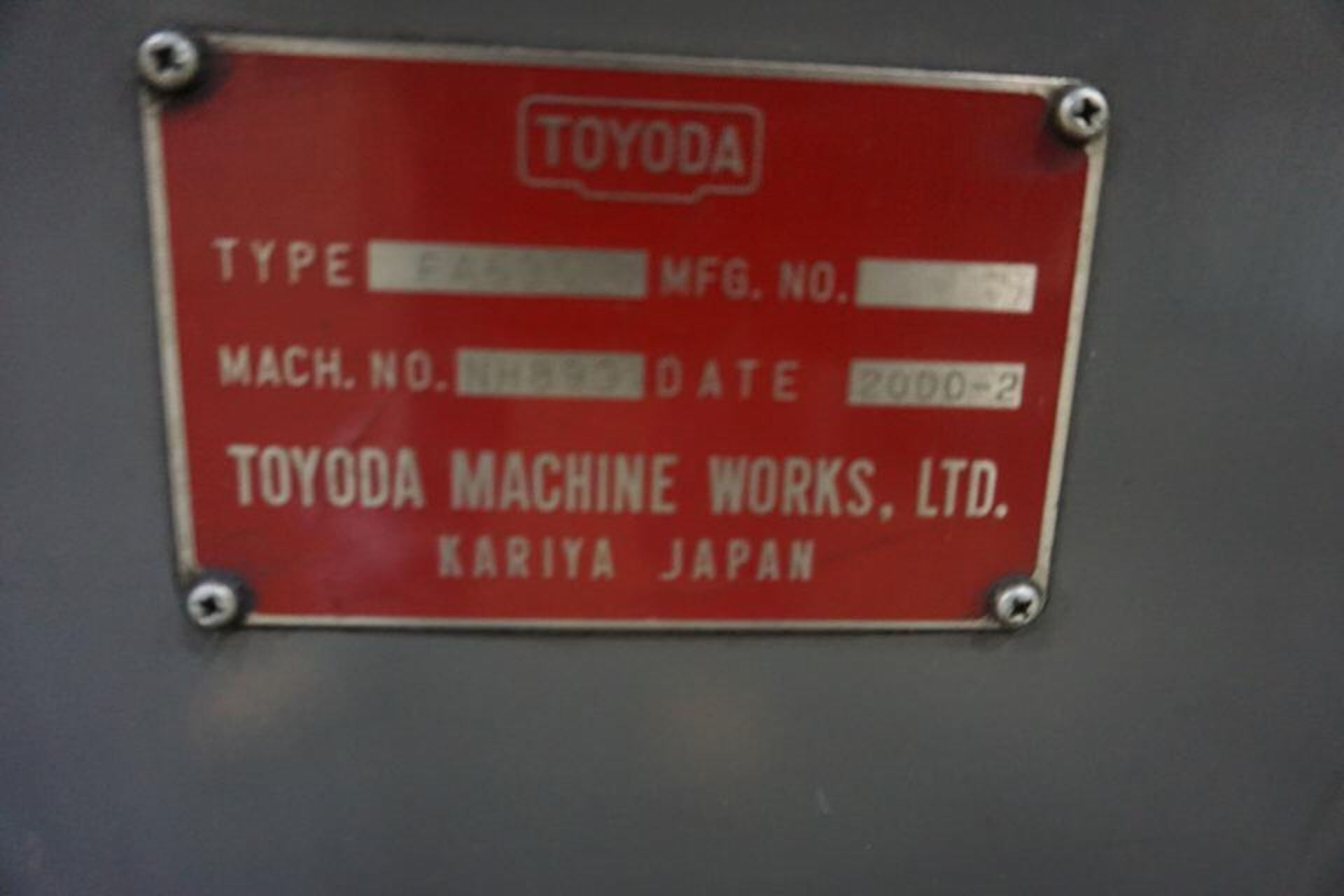 TOYODA HORIZONTAL MILLING MACHINE, DOM: 2000 (ASST#: P120201) - Image 2 of 6