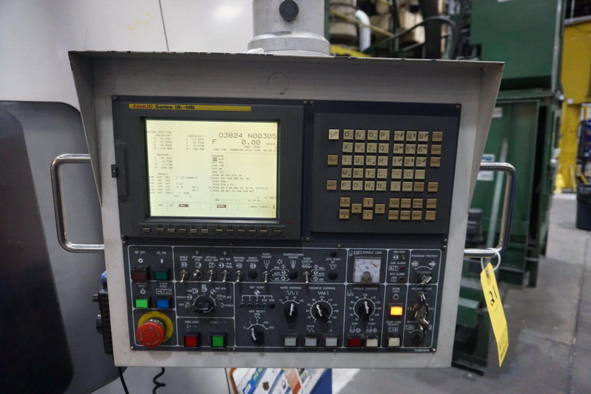DAEWOO DMV8030S VERTICAL MACHINING CENTER (ASST#:P345105) - Image 6 of 10