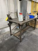 Table w/ Vise and Contents