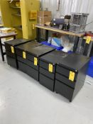 (5) 3 Drawer Lockable Cabinets