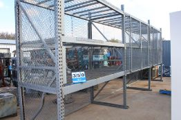 (3) SECTIONS PALLET RACKING, 12' X 4' UPRIGHTS, 9' CROSSBEAMS
