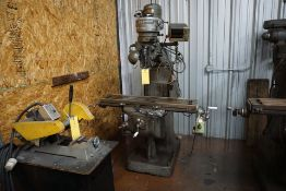 BRIDGEPORT VERTICAL MILLING MACHINE W/ X-AXIS RAPID FEED & MITUTOYO DRO