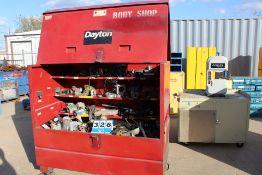"DAYTON JOB BOX, 48"" X 5'W X 30""D & CONT: CNC PARTS"