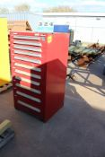 (11) DRAWER LYON TOOL CABINET W/ ASST CYLINDERS & FILTERS