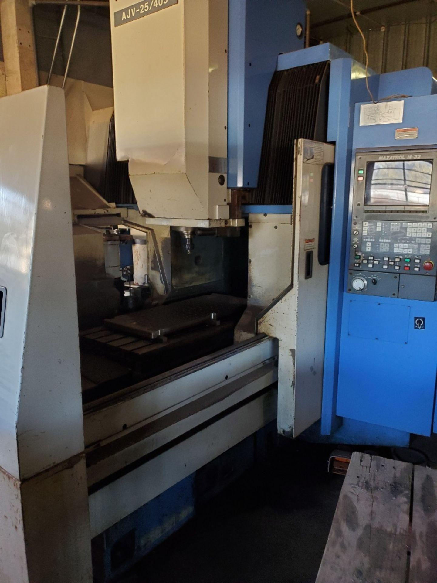 MAZAK AJV 25-405 MACHINING CENTER W/ MAZATROL M-32 CTRL (LOCATION: 5702 W 7TH ST, WAKE VILLLAGE, TX