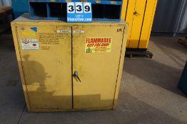 """(2) DOOR FLAMMABLE STORAGE C ABINET, 44""""H X 43""""W X 18""""D"""