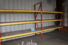 """(2) SECTIONS PALLET RACKING, 102"""" X 36"""" UPRIGHTS, 100"""" CROSSBEAMS"""