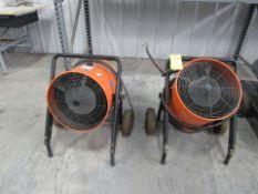 Lot of 2: Dayton Model 1RKT4A Shop Heaters