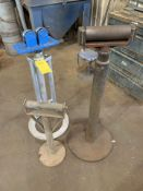 Lot of 3: (1) Pipe Roller, (2) Roller Stands