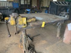 Heavy Duty Work Table with 2 Vises and Positioner