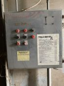 """Blast Cabinet Enclosure 20' deep x 120' w x 120"""" T, with Pressure Pot and Dust Collector."""