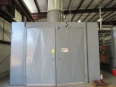 Large Capacity Self-Contained Paint Booth with integrated Bake/Curing Electric Oven.