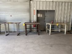 Lot: (3) Shop Tables with contents