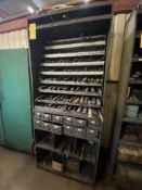 Metal Drawer Cabinet with Contents (assorted drill bits)