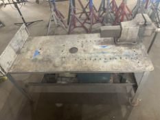 Heavy Duty Shop Table with Vise
