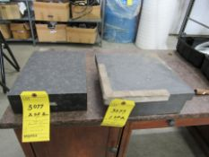 "Lot of 2 Granite Squares: 12"" x 12"" x 3-1/2"" , 9"" x 12"" x 3"""