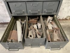 Heavy Duty Cabinet with 24 bins with contents