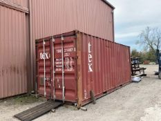 Contex Shipping Container with misc. tools, materials, hardness tester, etc.