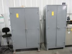 Lot of 2: (2) Door Cabinet with contents
