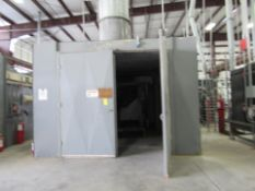 Gehnrich Large Capacity Self-Contained Paint Booth with integrated Bake/Curing Electric Oven.