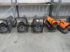 Lot of 6: Shop Heaters: (3) Procom Magnum, (3) Dayton