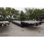 DOUBLE DROP TRAILER, TOP DECK: 8' X 8', BOTTOM: 32' X 8' (MUST BE REMOVED BY DECEMBER 22)