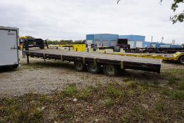 2012 WILD WEST GOOSE NECK TRAILER, MAX LOAD: 26,000 LBS