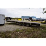 2012 8' x 30' WILD WEST GOOSE NECK TRAILER, MAX LOAD: 26,000 LBS (MUST BE REMOVED BY DECEMBER 22)