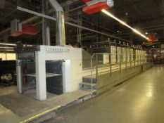 """2006 Komori LS1040P 5 Over 5 40"""" Perfector w/Harris and Bruno Anilox Coater, Series 45 Automation,"""
