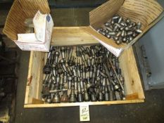 LOT Asst. Tool Holders in Crate w/Collets