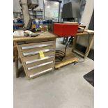 Oak Top Bench w/ 5 Drawer Kennedy Cabinet