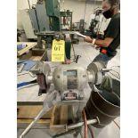 """WILTON DE Bench Grinder w/ 20"""" x 40"""" Steel Table"""