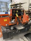1998 AMADA HA-250W Horizontal Bandsaw, 5 HP w/Hydraulic Feed & Chip Conveyer s/n 25350422, 10""