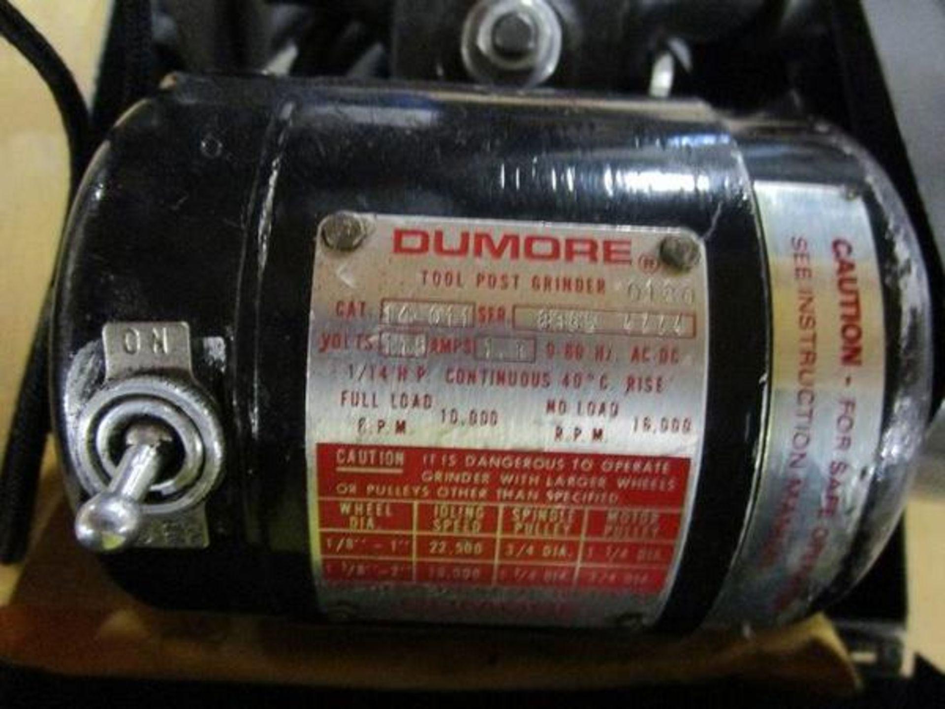Dumore 0180 Tool Post Grinder Cat # 14-001 - Image 2 of 2
