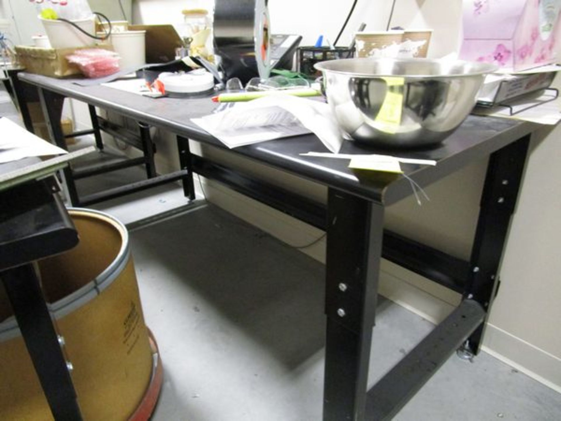 (4) Black Work Benches - Image 4 of 4
