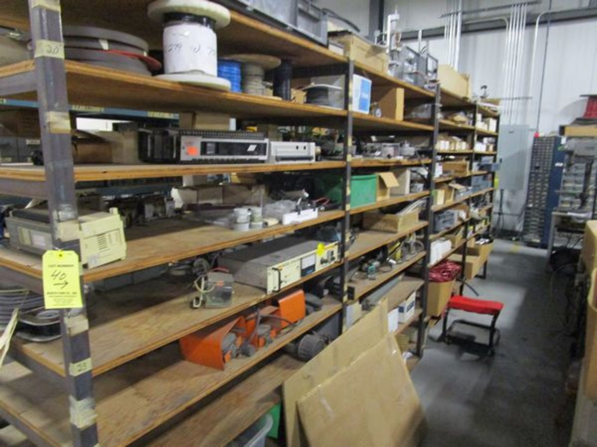 Lot Meters, Electrical Supplies, Wire, Components, Pins, Gages, Solderer, Etc. in 4 Sections