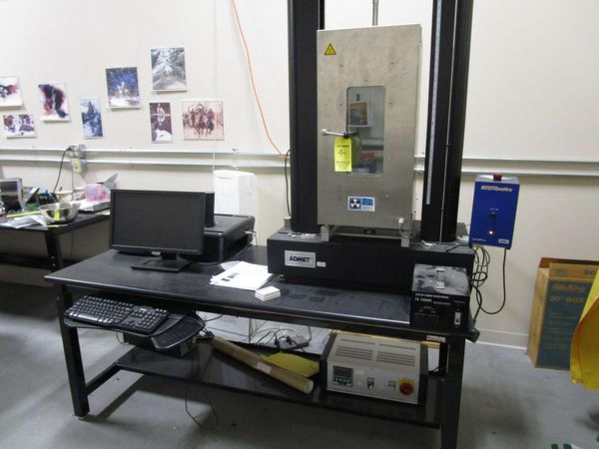Admet Expert 2610-5KN Tensile Tester s/n 2610-1002021, Power Supply, PC & Table