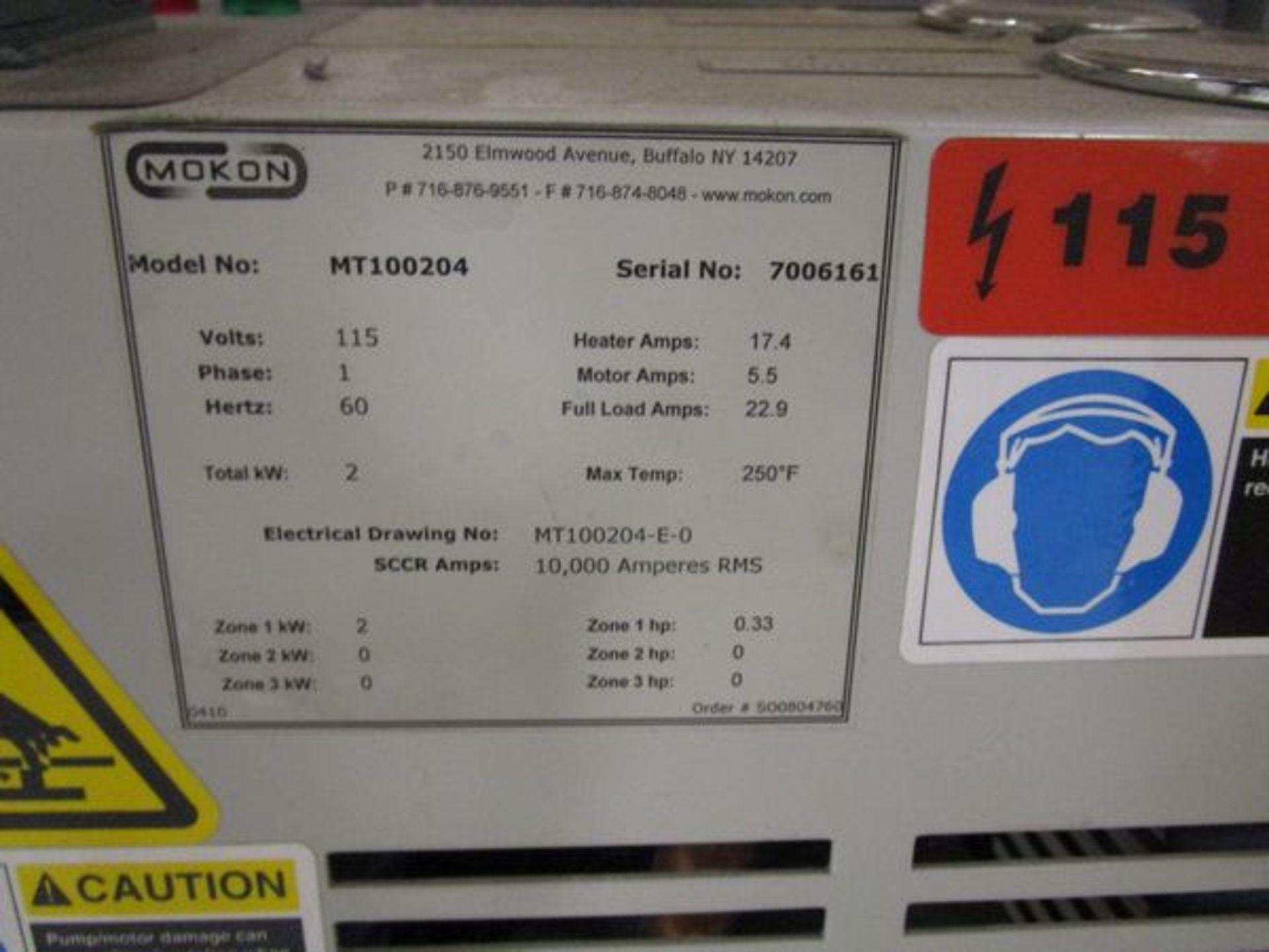 Mokon MT100204 Temp controler s/n 7006161 - Image 2 of 2