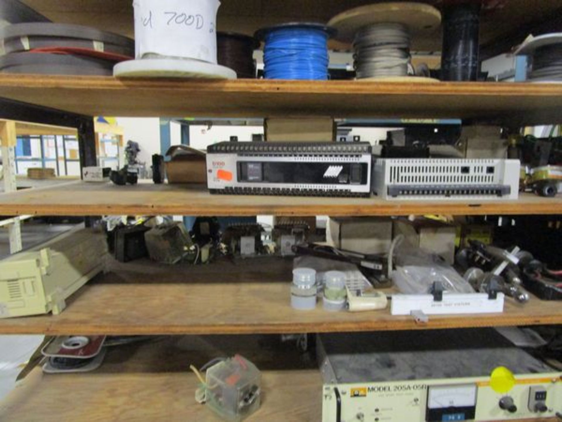 Lot Meters, Electrical Supplies, Wire, Components, Pins, Gages, Solderer, Etc. in 4 Sections - Image 2 of 5