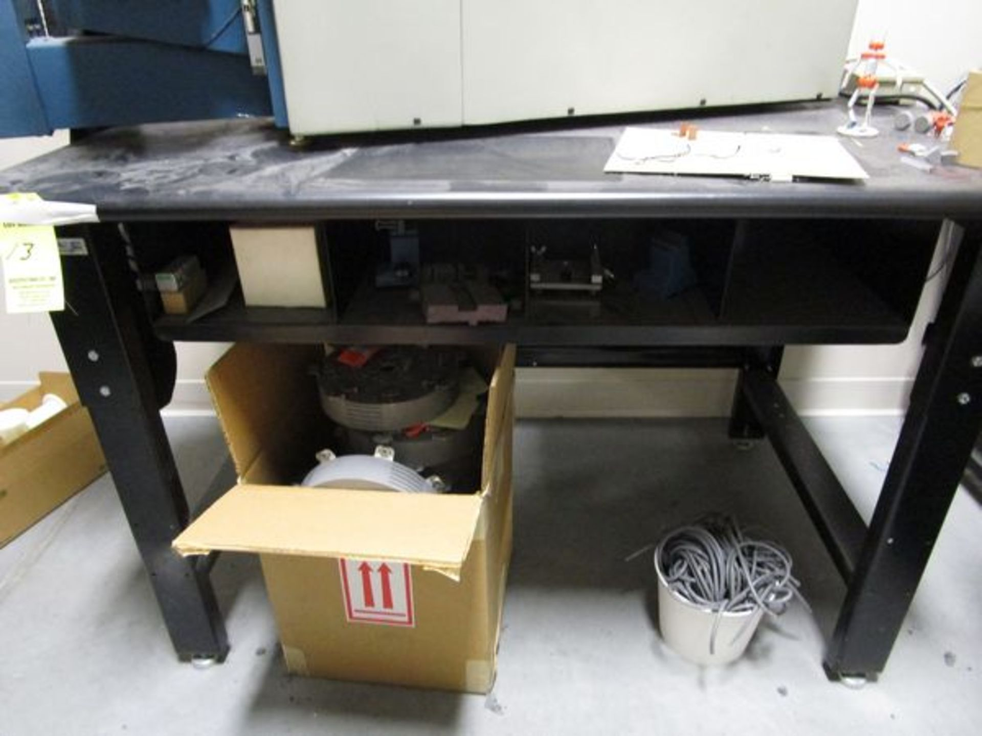 (4) Black Work Benches - Image 2 of 4