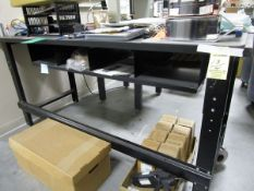(4) Black Work Benches