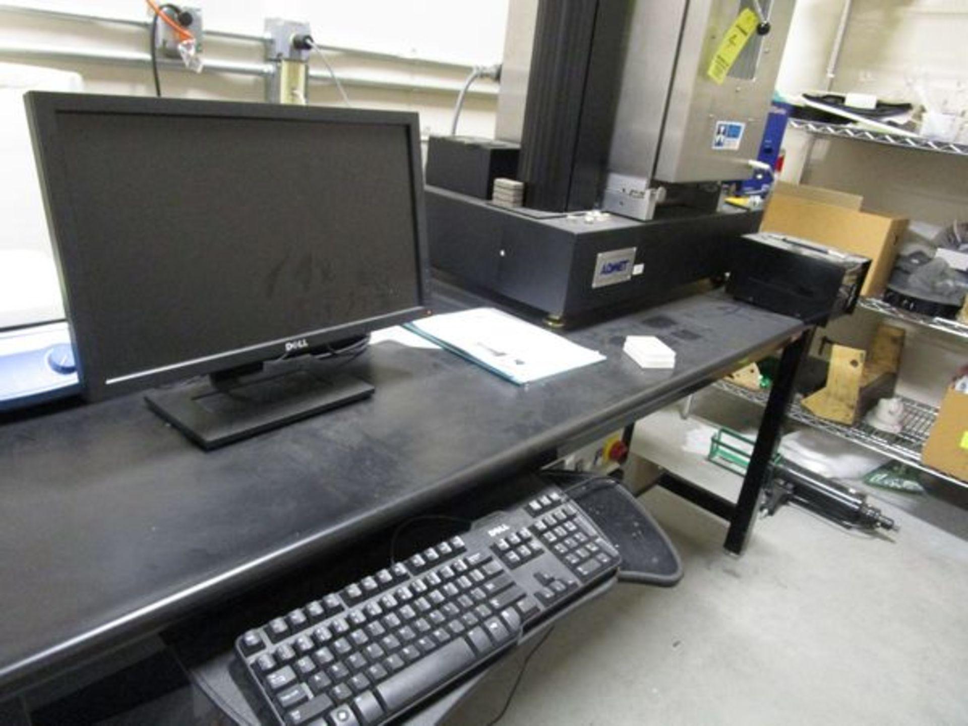 Admet Expert 2610-5KN Tensile Tester s/n 2610-1002021, Power Supply, PC & Table - Image 8 of 9